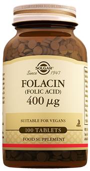 Folic Acid (Folacin) 400 mcg